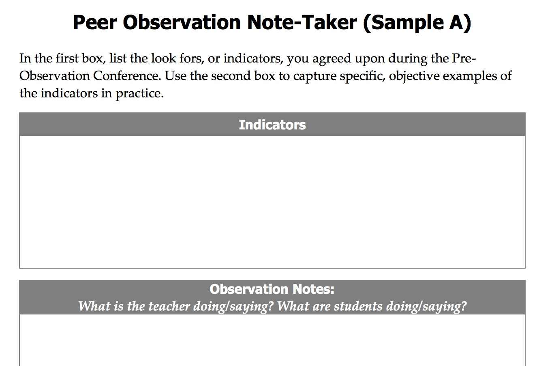 Academic Conversation Peer Observations | The David Cox Echo
